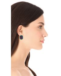 Kenneth Jay Lane - Purple Gem Oversized Stud Earrings - Lyst