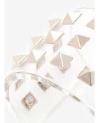 Valentino - Multicolor Rockstud Transparent Cuff - Lyst