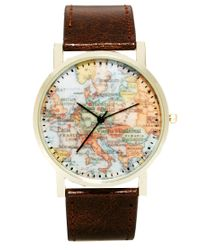 ASOS | Brown Watch With Map Print for Men | Lyst