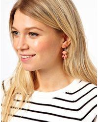 ASOS - Pink Mini Teardrop Earrings - Lyst