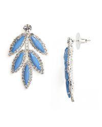BaubleBar - Metallic Blue Marquise Leaf Drops - Lyst