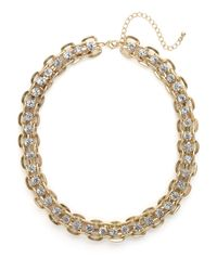 BaubleBar | Metallic Gold Crystal Link Strand | Lyst