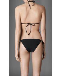 Burberry - Black Stud Detail Triangle Bikini - Lyst