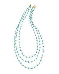 Heather Hawkins | Blue 3 Layer Gemstone Necklace | Lyst