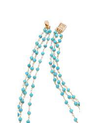 Heather Hawkins - Blue 3 Layer Gemstone Necklace - Lyst