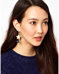Kenneth Jay Lane | Blue Double Star Drop Earrings | Lyst