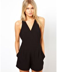 Cheap Monday - Black Love Romper with Cross Straps - Lyst
