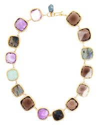 Ram - Multicolor Amethyst, Aquamarine, Labradorite And Smoky Quartz - Lyst