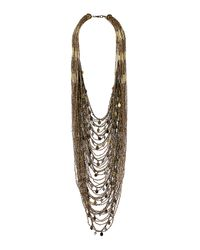 TOPSHOP - Metallic Seed Bead Charm Necklace - Lyst