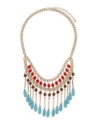 TOPSHOP - Multicolor Semi Precious Stone Collar - Lyst