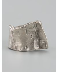 Alice Waese - Metallic Finger Cuff Ring for Men - Lyst