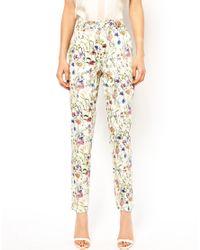 ASOS - Multicolor Premium Trousers in Floral Print - Lyst