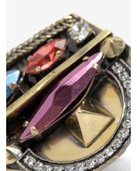 Iosselliani - Metallic Deco Stone Ring - Lyst