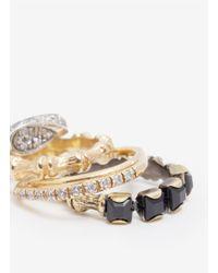 Iosselliani - Metallic Four Ring Set - Lyst