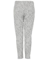 TOPSHOP Gray Bonded Lace Cigarette Trousers