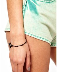 Wildfox | Black Delicate Bone Bracelet | Lyst