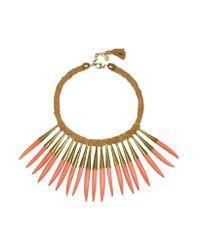 Antik Batik - Pink Noli Leather And Metal Necklace - Lyst