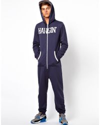 ASOS - Blue Onesie with Hangin Print for Men - Lyst