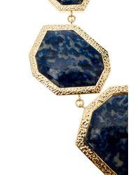 Isharya - Blue Geometric Lapis Necklace - Lyst