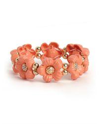 BaubleBar | Pink Coral Bramble Bloom Bracelet | Lyst