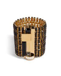 Emilio Pucci - Metallic Crystal Bracelet - Lyst