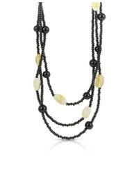 Antica Murrina - Black Kenia Origin Multi Strand Murano Glass Long Necklace - Lyst