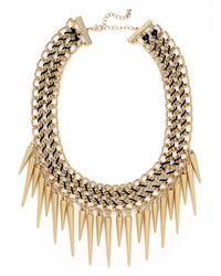 BaubleBar | Metallic Gold Courtney Spike Bib | Lyst