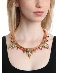 BaubleBar - Orange Cerise Arrowhead Collar - Lyst