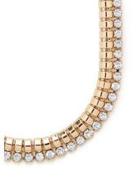 BaubleBar - Metallic Gold Spiral Crystal Collar - Lyst
