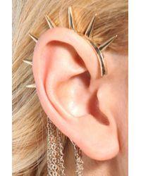 AKIRA - Metallic Spike Cross Ear Cuff  - Lyst