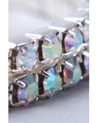 AKIRA - Metallic Stone Row Bracelet - Lyst