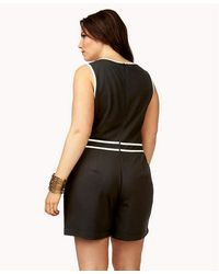 3937bdcd8fa4 Forever 21 Plus Size Boogie Nights Romper in Black - Lyst