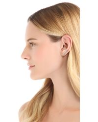 Jacquie Aiche - Metallic Ja Assorted Bezels Ear Cuff Silver - Lyst