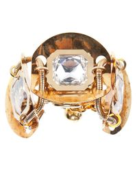 Lanvin - Metallic Crystal Detail Bracelet - Lyst
