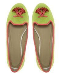 ASOS - Green Mockingbird Slipper Shoes - Lyst