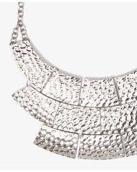 Forever 21 - Metallic Dimpled Bib Necklace - Lyst