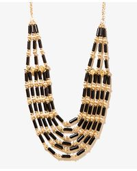 Forever 21 | Black Layered Bead Necklace | Lyst