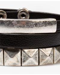 Forever 21 | Metallic Pyramid Stud Bracelet Set | Lyst