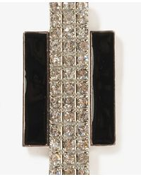 Forever 21   Black Sparkling Art Deco Earrings   Lyst