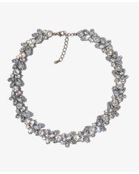 Forever 21 | Metallic Rhinestone Wreath Necklace | Lyst
