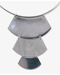 Forever 21 - Metallic Tiered Crescent Bib Necklace - Lyst