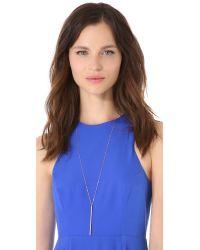 Kristen Elspeth - Pink Bar Necklace - Lyst