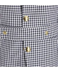 Moncler Gamme Bleu - Blue Gingham Seersucker Sport Jacket for Men - Lyst