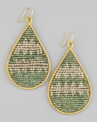Nakamol | Green Beaded Teardrop Earrings | Lyst