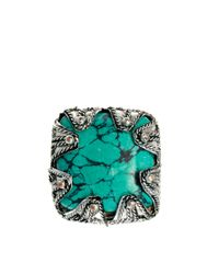 River Island - Multicolor Chunky Stone Ring Pack - Lyst