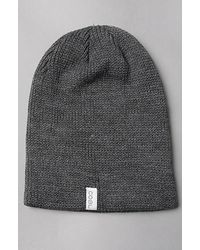 b0b1697a70817 Lyst - Coal The Frena Solid Beanie in Charcoal in Gray for Men