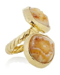 Dara Ettinger - Metallic Angelica Gold Plated Agate Ring - Lyst
