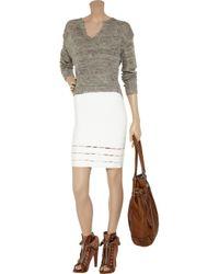 Hervé Léger | White Cutout Bandage Pencil Skirt | Lyst