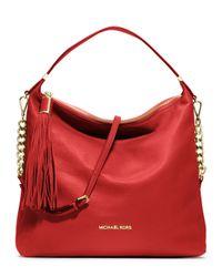 fe0af11f5106 Lyst - MICHAEL Michael Kors Large Weston Pebbled Shoulder Bag in Red