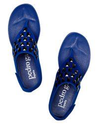 Pedro Garcia - Blue Jessica Swarovski Crystal-embellished Suede Sandals - Lyst